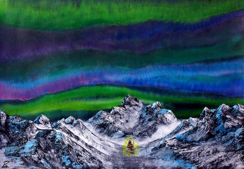Acrylic Painting-Journey to the Summit