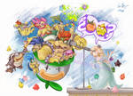 Peach? Luma?- S Mario Galaxy by nuriaabajo
