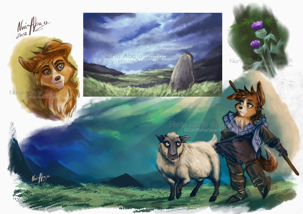 Shetland Shepherdess by Iluvendure
