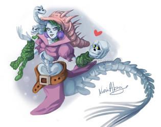 Mermay - the dead mermaid by nuriaabajo
