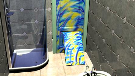 animated bathroom