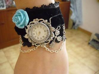 Velvet  gothic watch