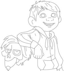 Miguel And Hector- School project by DrawingDisneyStuff