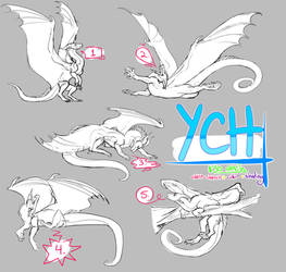 (now taking points) dragon poses YCH (2/5 open)