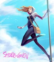 Spider Gwen by lorenzbasuki