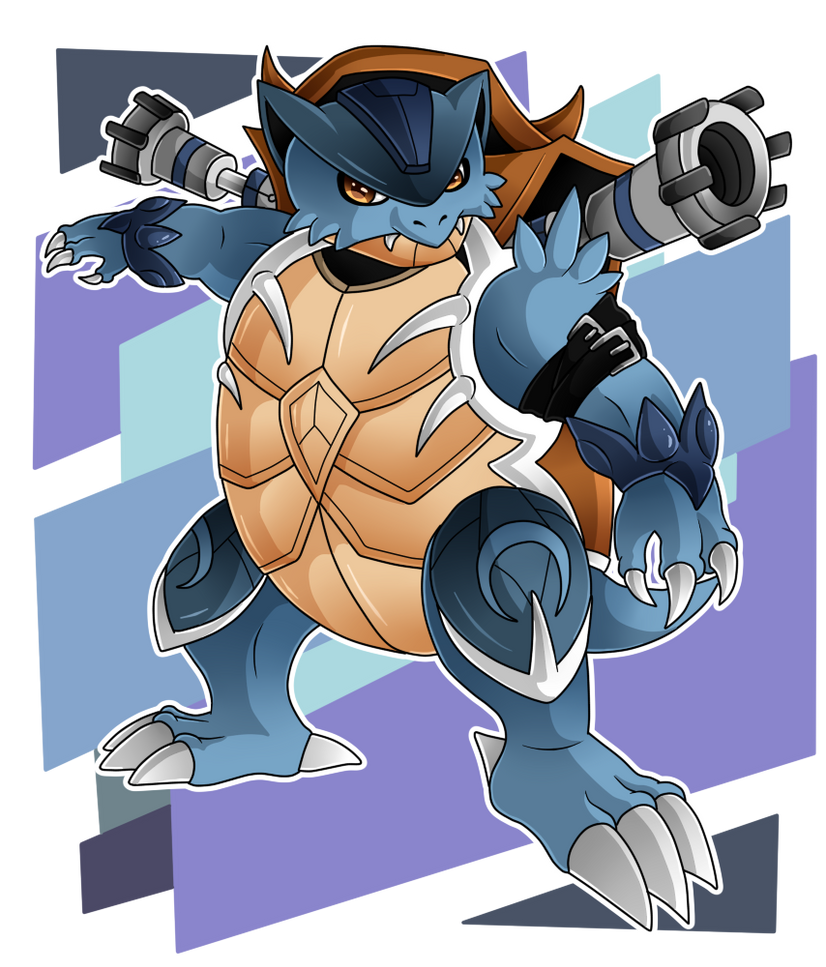 #009 - Blastoisemon - If Pokemons Were Digimons by HeyAnkey