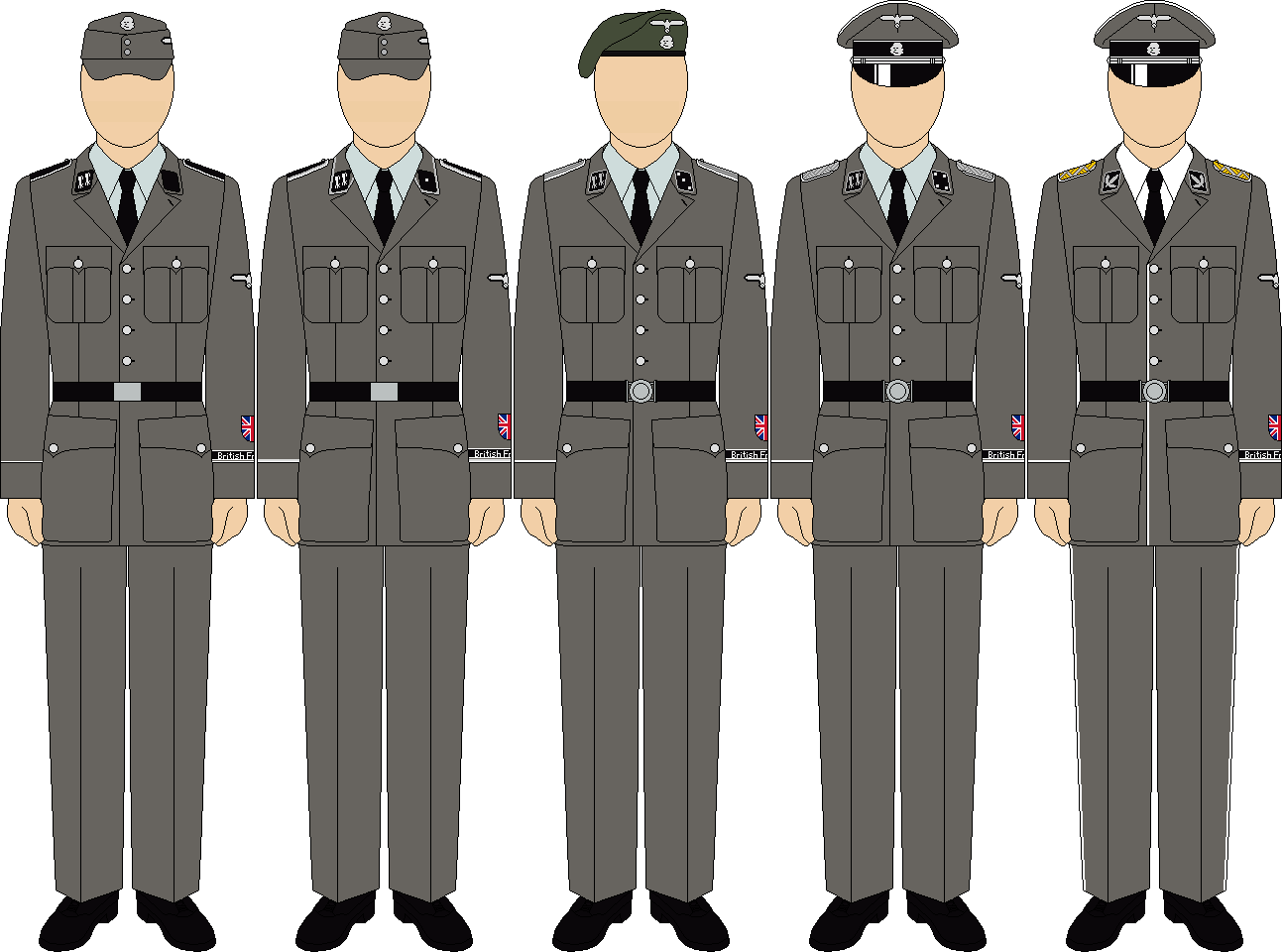 New Army Dress Uniform 2014 British Free Corps ser...