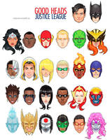 Good Heads: Justice League by micQuestion