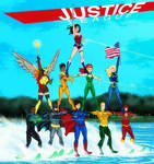 Justice League Water Ski Show(4th of July Variant)