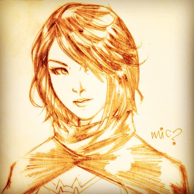 Head Sketch: Cassandra Cain by micQuestion