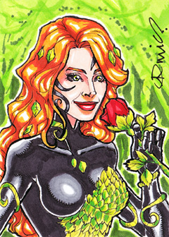 Poison Ivy ACEO by micQuestion