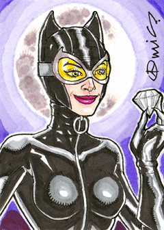 Catwoman ACEO by micQuestion