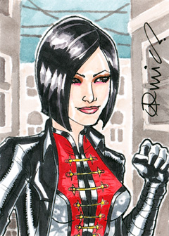 Lady Shiva ACEO by micQuestion