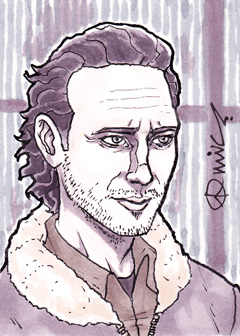 TWD Rick Grimes ACEO by micQuestion