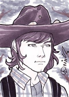 TWD Carl Grimes ACEO by micQuestion
