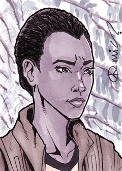 TWD Sasha Williams ACEO by micQuestion