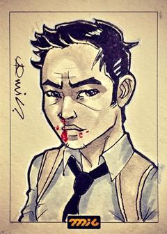 Tony Chu Sketch Card by micQuestion