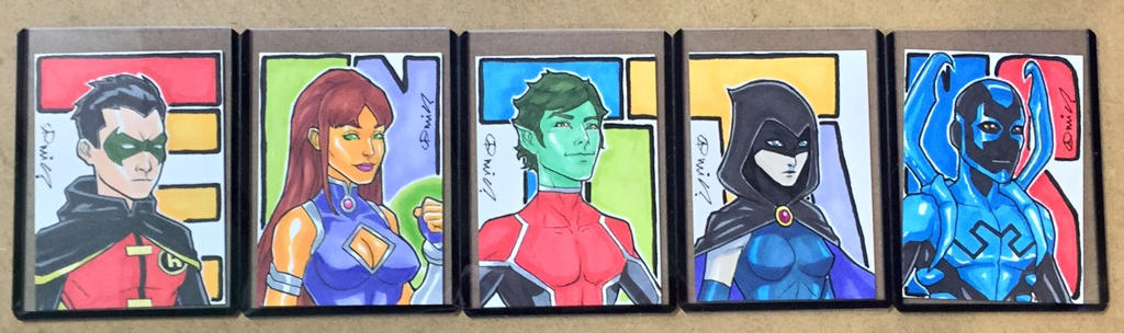 Teen Titans Sketch Cards by micQuestion