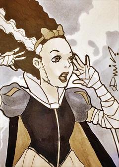 Commission: Snow Bride of Frankenstein