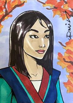 ACEO: Mulan