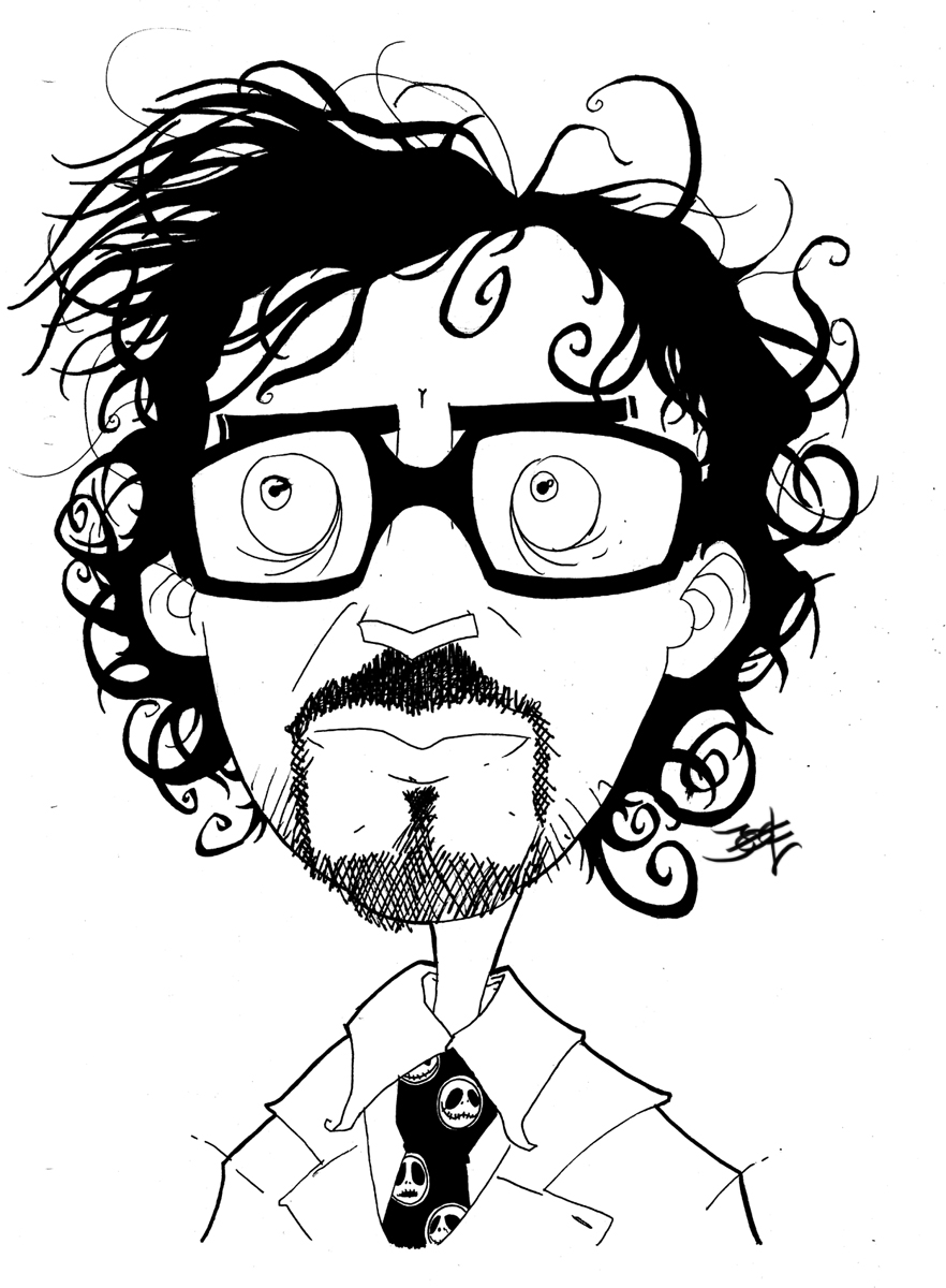 Tim burton nightmare coloring pages coloring pages for Tim burton coloring pages