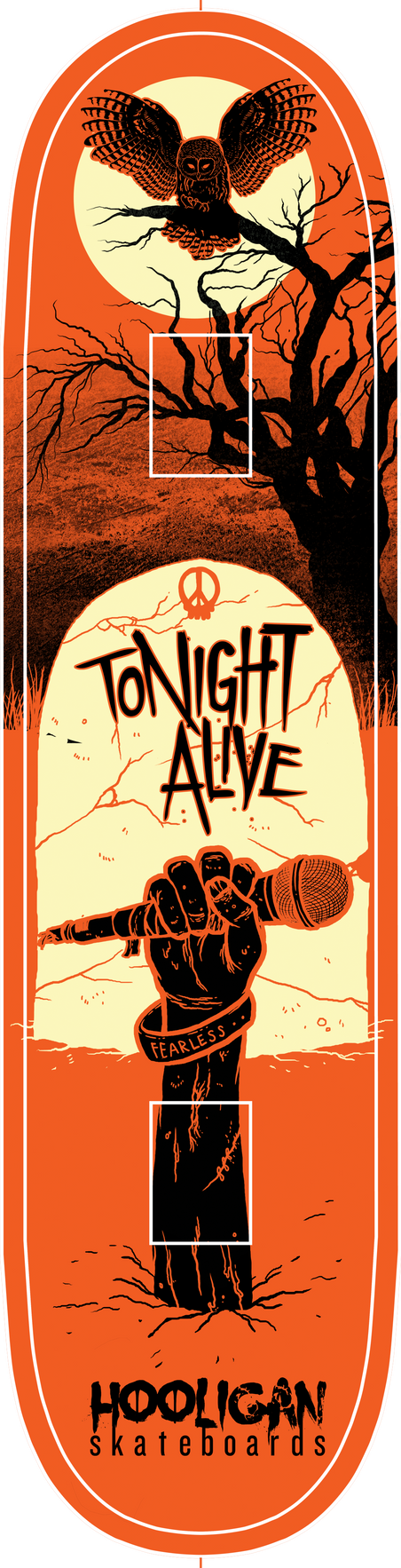 Tonight Alive - skate deck contest by JoelAmatGuell