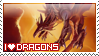 I love Dragons STAMP by Saarl