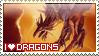 I love Dragons STAMP by Saarl