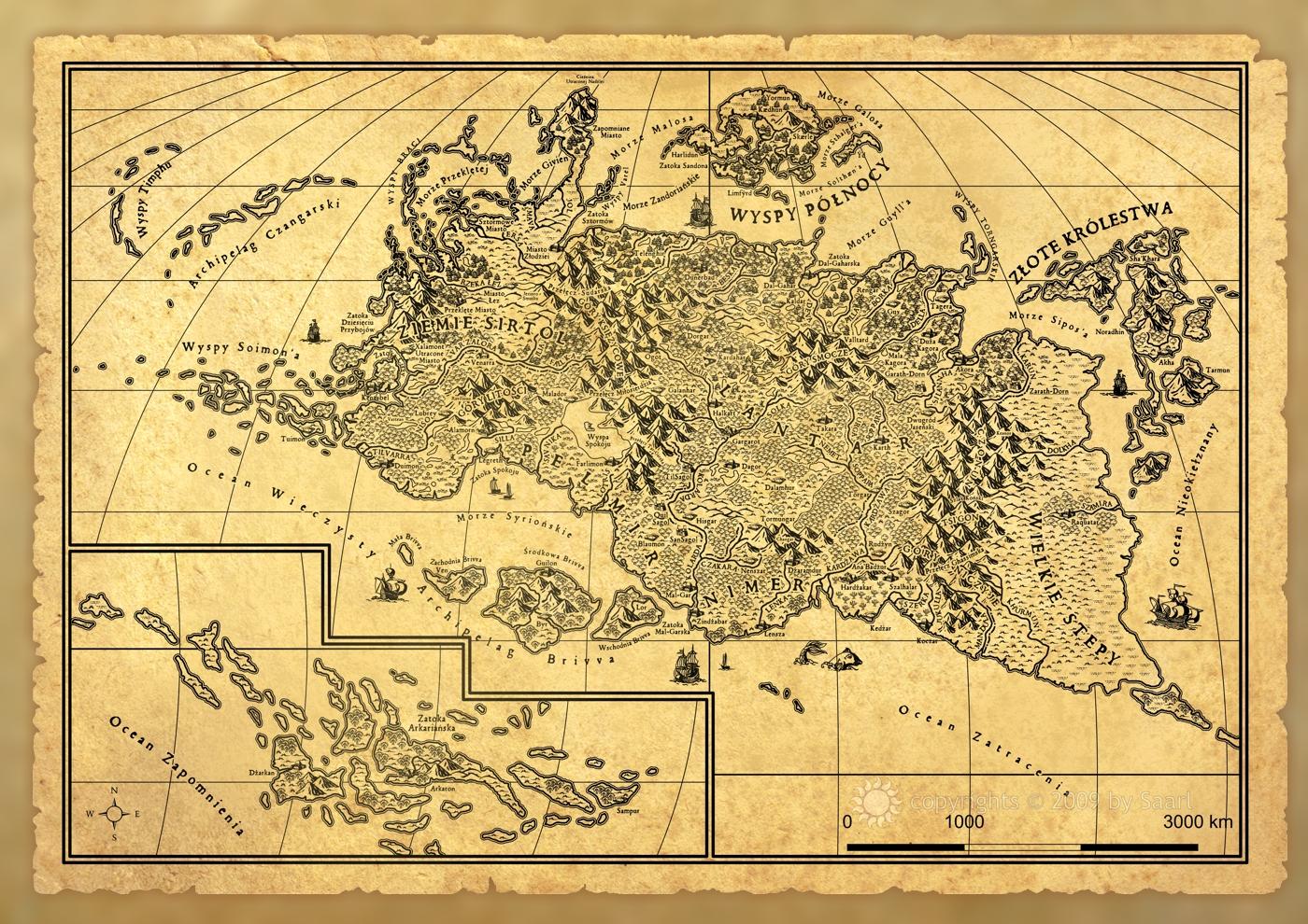 Alantar: Map close up by Saarl