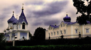 blue church..