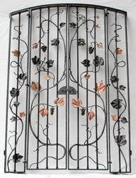 Wine cellar gate by artistladysmith