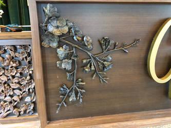 Bronze cast apple blossom branch