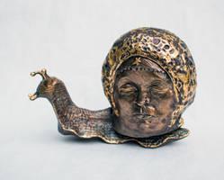 Bronze cast Aztec moon god