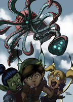 Giant Mecha-Squid by HeribertoHernandez