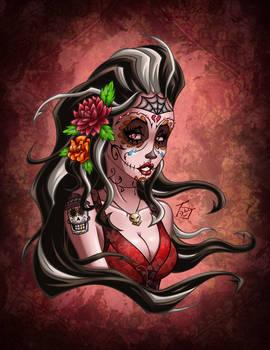 Sugar Skull Girl Dahlia