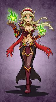 Blood Elf Warlock: Marbelle