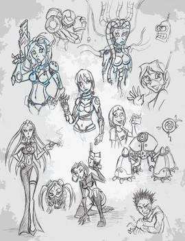 Girl Doodles 2 - Cyberpunk