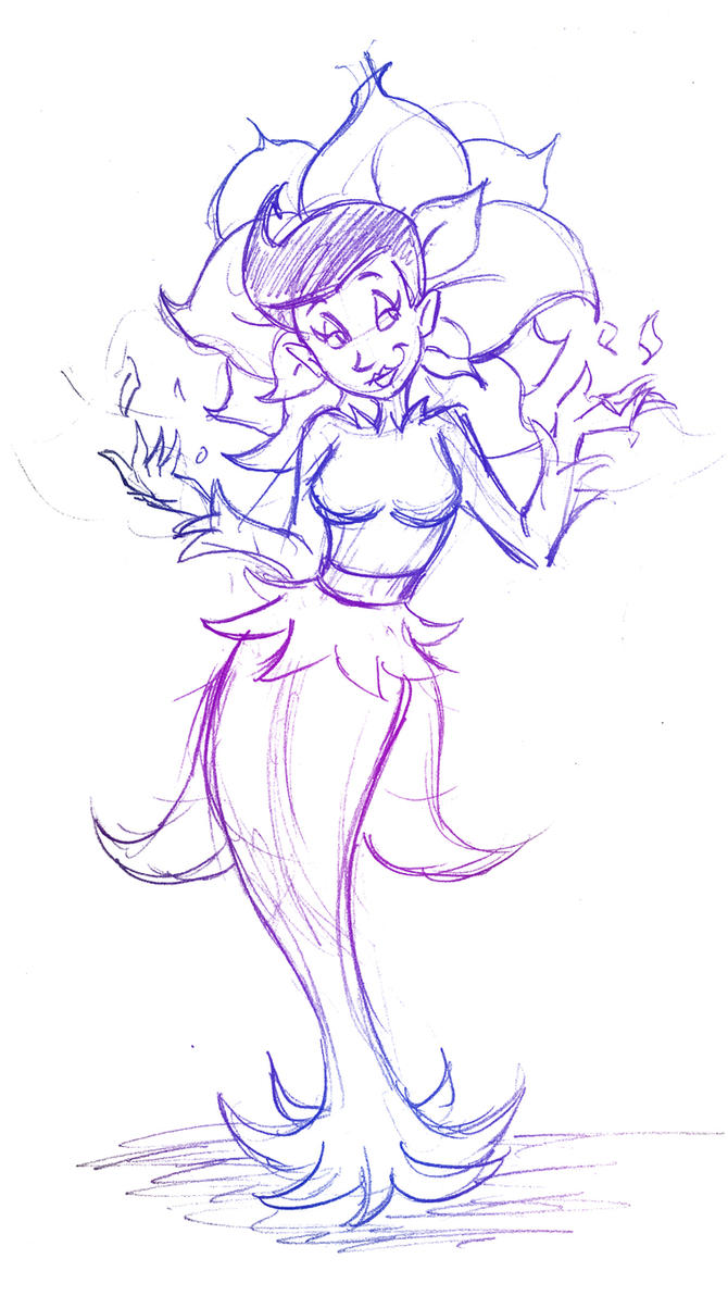Quick Sketch Trade - Queen Petunia by hooksnfangs