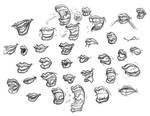 Studies - Lady Lips by hooksnfangs