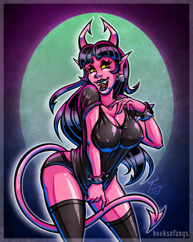 Devil Girl - Lyla by hooksnfangs