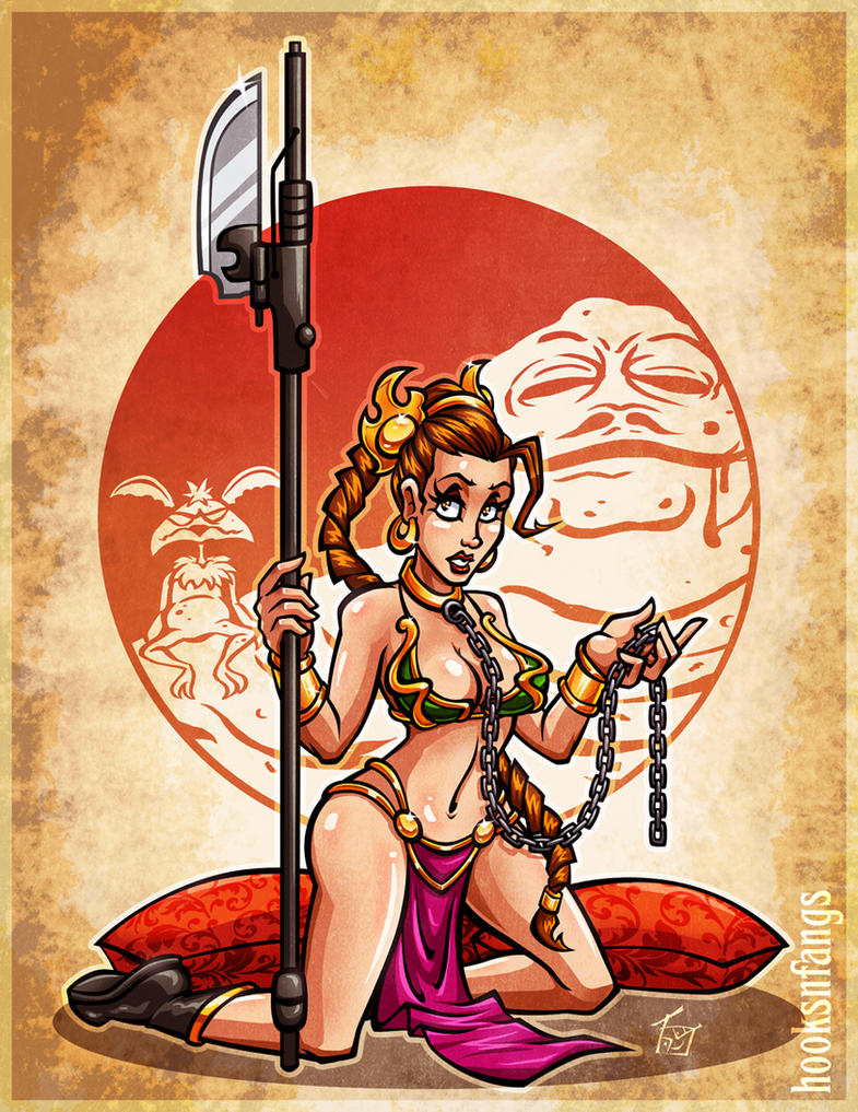 Slave Leia Pinup by hooksnfangs