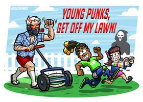 Soldier 76 Dad - Get Off My Lawn