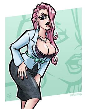 Office Babe: Veronique