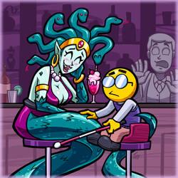 Medusa's Blind Date by hooksnfangs