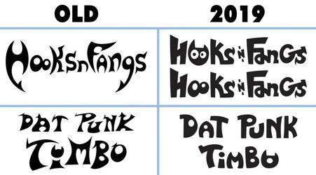 Hooksnfangs Logos comparison
