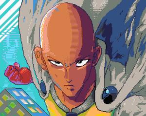 One Punch Man pixelart