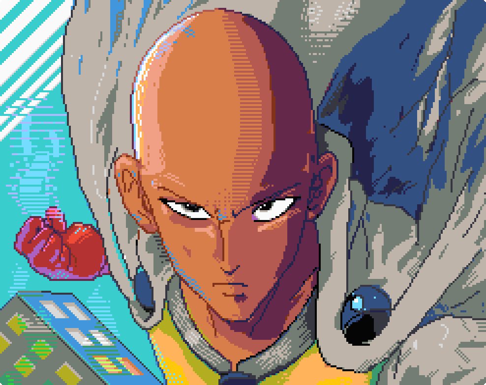One Punch Man pixelart by doomiest