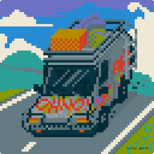 oH nO ! Rowdy 3 van from Dirk Gently by doomiest