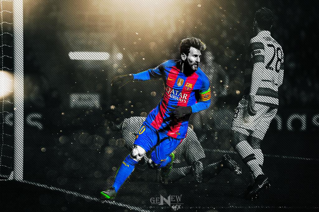 Lionel Messi HD Desktop Wallpaper By NewGenGFX