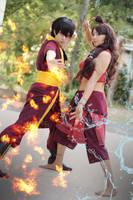 Fire and Water. Avatar, katara and Zuko cosplay. by Giuzzys